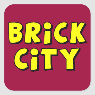 Brick City by Customise My Minifig Square Sticker