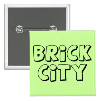 Brick City by Customize My Minifig Pinback Button