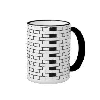 Brick Coffee Cup Ringer Mug