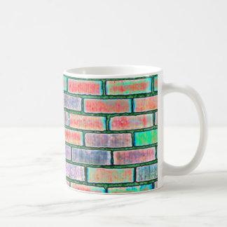 brick coloured basic white mug