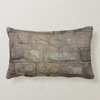 "Brick Cotton Throw Pillow, Lumbar Pillow 13"" x 21"""
