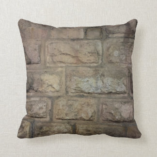 "Brick Cotton Throw Pillow, Throw Pillow 16"" x 16"""