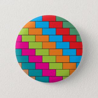 Brick design 6 cm round badge