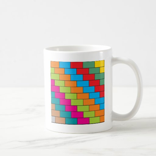 Brick design coffee mugs