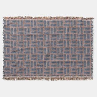 Brick design throw blanket