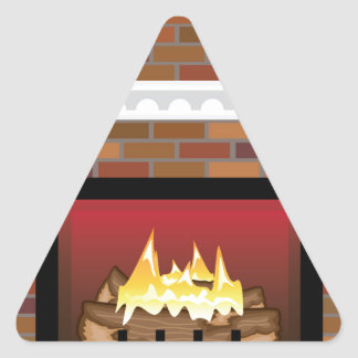 Brick Fireplace vector Triangle Sticker