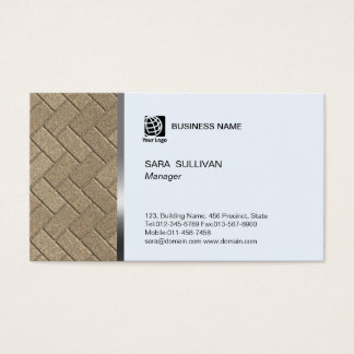 Brick Flooring Pattern Contractor Business Card