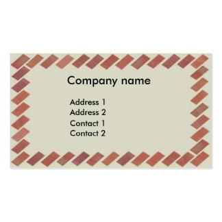 Brick frame pack of standard business cards