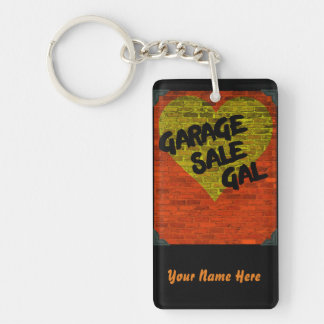 Brick Heart Garage Sale Gal Personalized Keychain