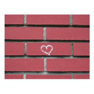 Brick Heart Postcard