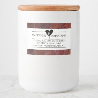 Brick Industrial Wedding Favor Label