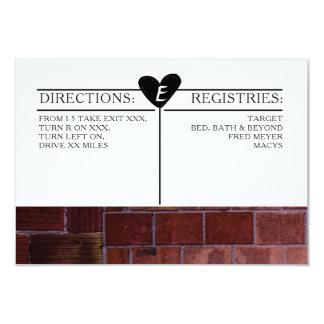 Brick Industrial Wedding Invitation Details Card