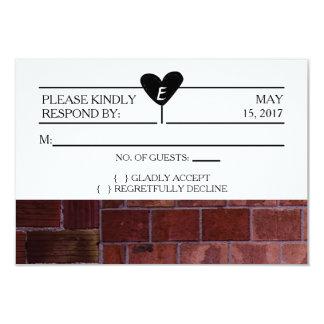 Brick Industrial Wedding RSVP Card