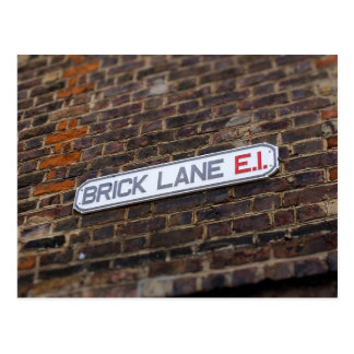 Brick Lane - London - Street Sign - Postcard