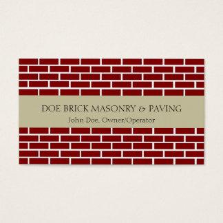 Brick Mason Tan/Fire Red Brick Business Card