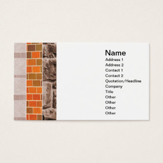 brick or stone collage business card