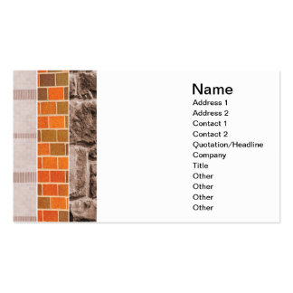 brick or stone collage business card templates