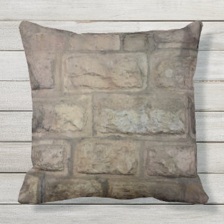 "Brick Outdoor Throw Pillow, Throw Pillow 20"" x 20"""