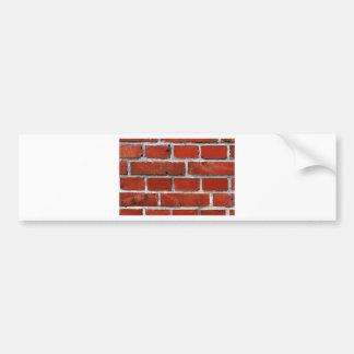 Brick Pattern Bumper Sticker