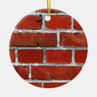 Brick Pattern Ceramic Ornament