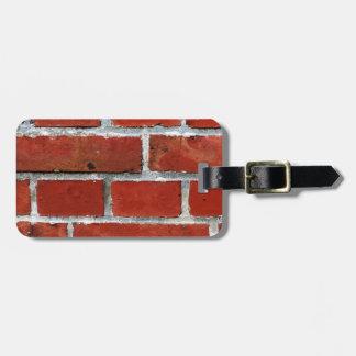 Brick Pattern Luggage Tag