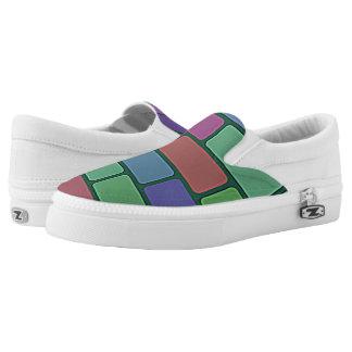 brick pattern Slip-On shoes