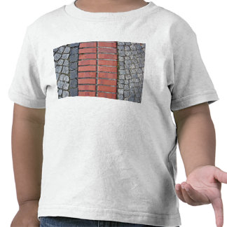 Brick Pavement With Stone Tiles On Both Sides Tees