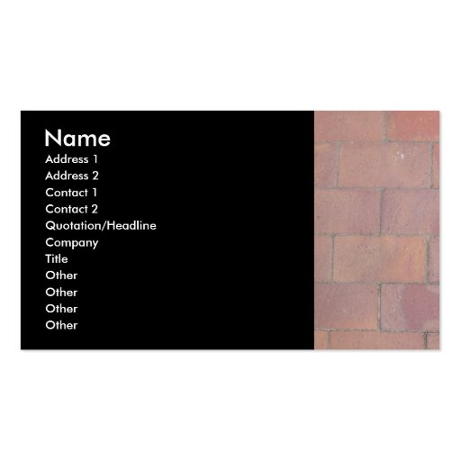 Brick Pavers Business Cards