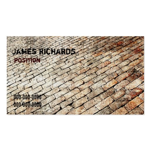 brick paving design business card
