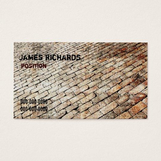 brick paving design business card