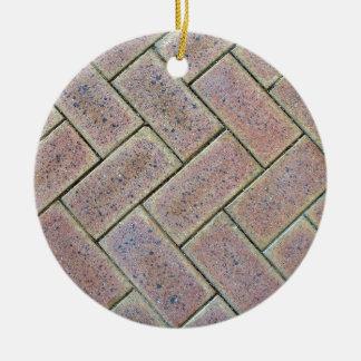 Brick Paving Texture Ceramic Ornament