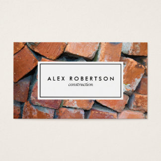 Brick photograph business card