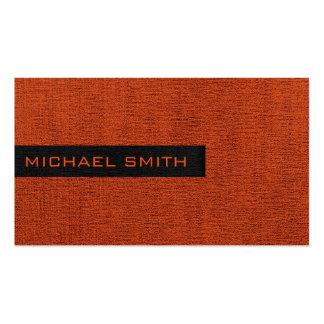 Brick Red Elegant Monogram Pack Of Standard Business Cards