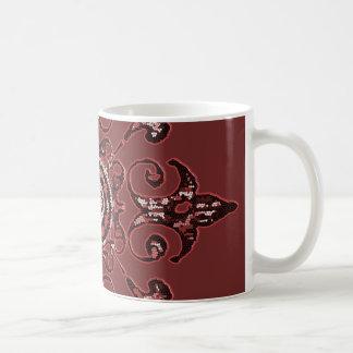 Brick Red Vintage Design Coffee Mug