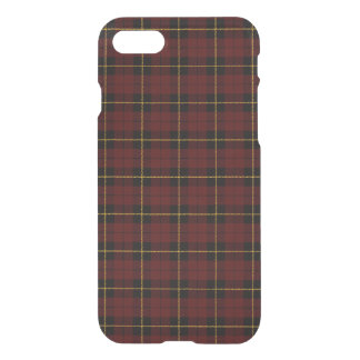 Brick red, with yellow black stripe plaid iPhone 8/7 case