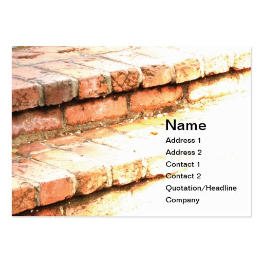 brick steps business card templates