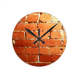 Brick texture round clock