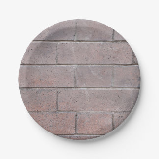 Brick Wall 7 Inch Paper Plate