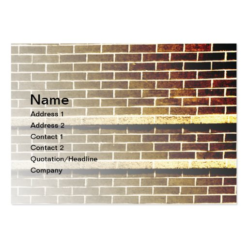 brick wall abstract business cards