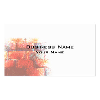 Brick Wall and White Space. Digital Art. Pack Of Standard Business Cards
