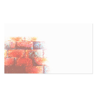 Brick Wall and White Space. Digital Art. Double-Sided Standard Business Cards (Pack Of 100)