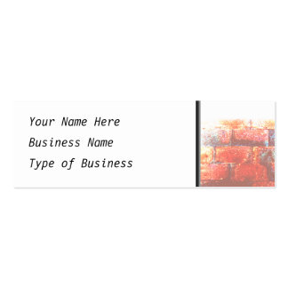 Brick Wall and White Space. Digital Art. Double-Sided Mini Business Cards (Pack Of 20)