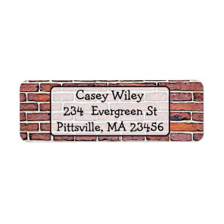 Brick Wall  background  Address Label