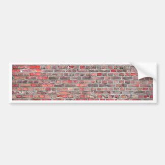 brick wall  background - red vintage stone bumper sticker