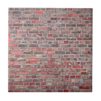 brick wall  background - red vintage stone ceramic tile