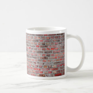 brick wall  background - red vintage stone coffee mug