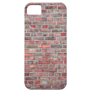 brick wall  background - red vintage stone iPhone 5 cover