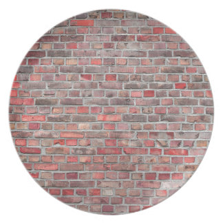 brick wall  background - red vintage stone plate