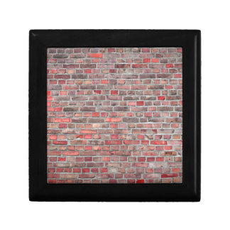 brick wall  background - red vintage stone small square gift box