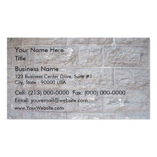 Brick wall business card template